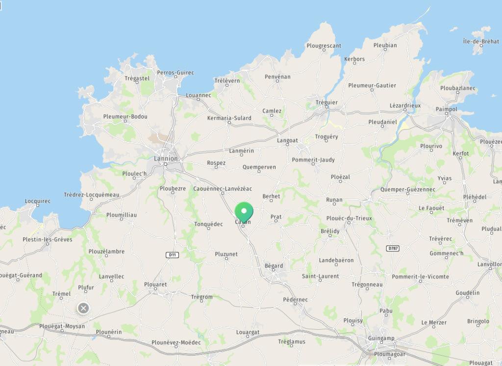 Carte du Trégor